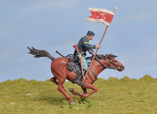 Union 1st Michigan Union Cavalry Charging Standard Bearer BH-0804