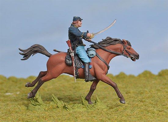 Union 1st Michigan Union Cavalry Charging No. 2 BH-0806