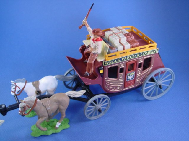 Britains Deetail DSG Toy Soldiers Custom Produced Western Stagecoach