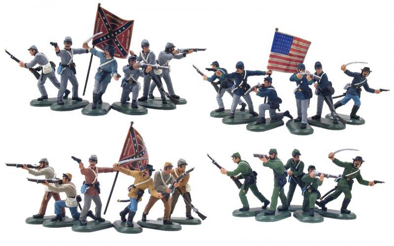 Britains Deetail Civil War 48 Piece Counter Box Special Set No.2