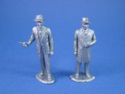 Thumbnail of Marx Untouchables Playset Reissue Eliot Ness and Al Capone in Silver