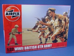 Thumbnail of Airfix 1:32 Toy Soldiers WWII British 8th Army Desert Rats 14 Piece Set 2707