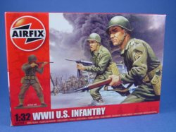 Thumbnail of Airfix 1:32 Toy Soldiers WWII US Army Infantry 14 Piece Set 2703