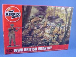 Thumbnail of Airfix 1:32 Toy Soldiers WWII British Infantry 14 Piece Set 2718