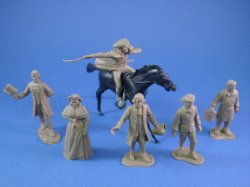 Thumbnail of Marx 54mm Johnny Tremain Playset Colonial Characters 7 Piece Set