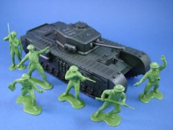 Thumbnail of Marx 54mm Battleground Europe Playset WWII British Soldiers with Churchill Tank