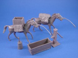 Thumbnail of Marx 54mm Pack Horses with Supplies and Accessories 9 Piece Set