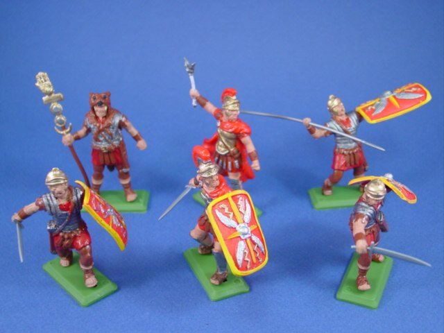 Britains Deetail DSG Roman Toy Soldiers Imperial Legion Infantry Red Shields