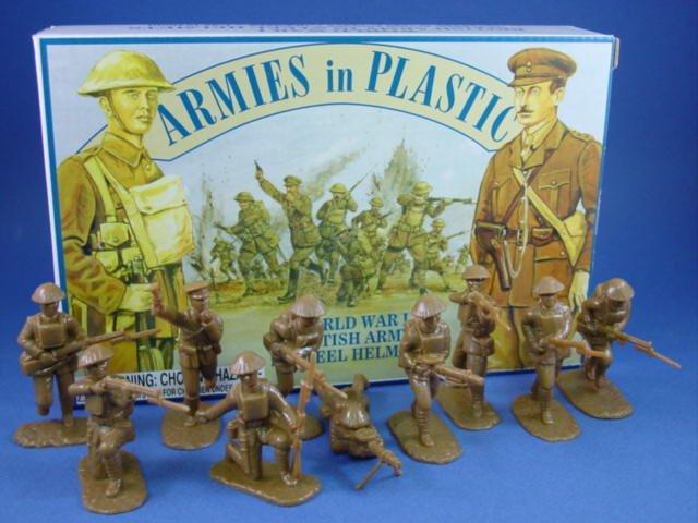 Armies in Plastic 54mm WWI British Infantry 20 Figures in Khaki