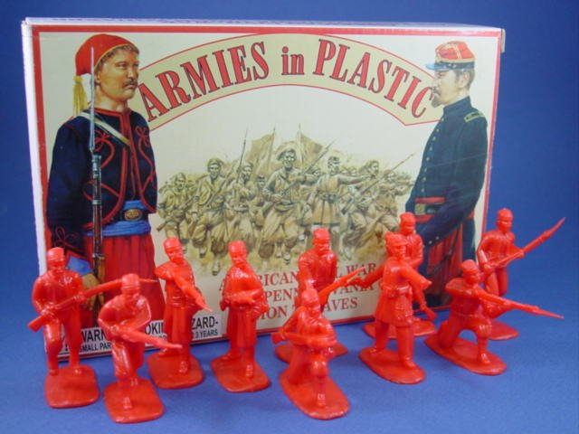 Armies in Plastic 54mm Civil War Union Zouaves 20 Figures in Red