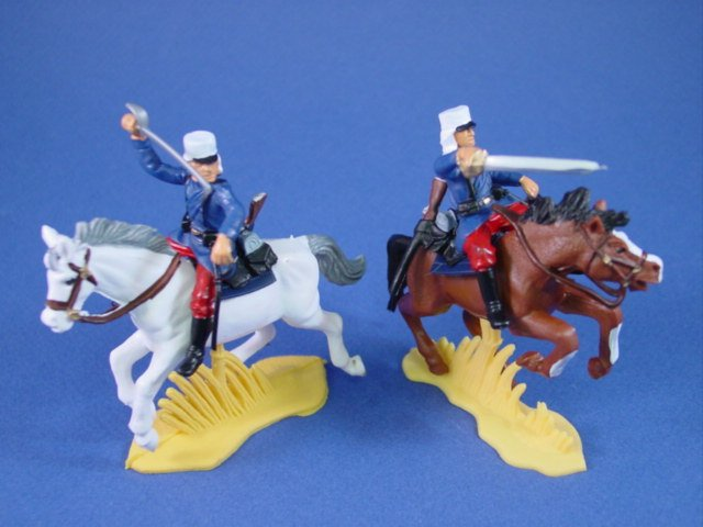 Britains Deetail DSG Toy Soldiers Mounted French Foreign Legion in Red Trousers