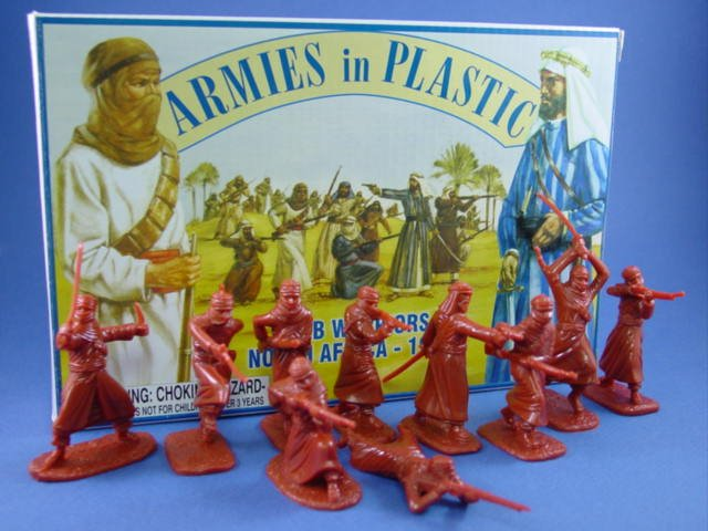 Armies in Plastic 54mm Arab Warriors circa 1900 20 Figures 10 Poses Cast in Red