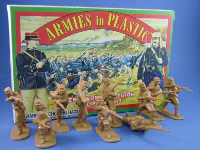 Armies in Plastic 54mm French Foreign Legion Gallipoli 1915 20 Figures in 10 Poses Cast in Tan
