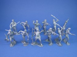 Thumbnail of BEST BUY! Marx 54mm Boonsboro Pioneers Alamo Playset Toy Soldiers 12 in Silver