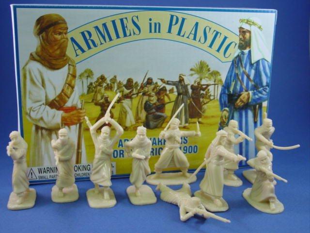 Armies in Plastic 54mm Arab Warriors circa 1900 20 Figures 10 Poses in Cream
