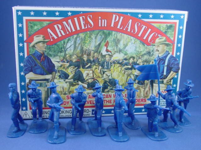 Armies in Plastic 54mm Spanish American War US Rough Riders 20 figures in 10 poses