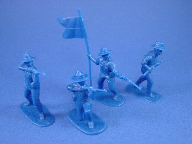 Armies in Plastic 54mm Spanish American War US Rough Riders 20 figures in 10 poses