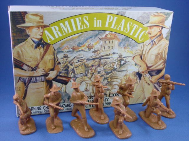 Armies in Plastic 54mm US Army Chinese Boxer Rebellion 1900 -  20 figures in tan