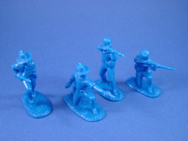 Armies in Plastic 54mm US Marines Chinese Boxer Rebellion 1900 - 20 figures in blue