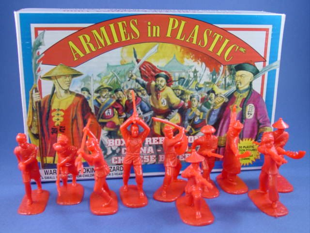 Armies in Plastic 54mm Chinese Boxer Rebellion 1900 Set - 20 figures in red