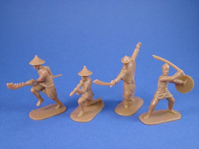 Armies in Plastic 54mm Chinese Boxer Rebellion 1900 Set - 20 figures in tan