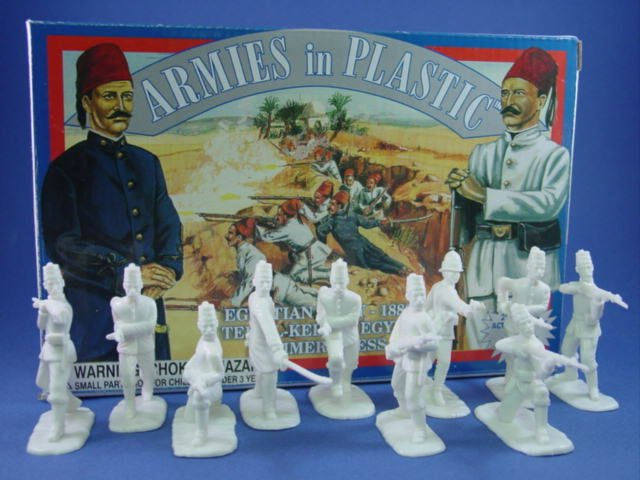 Armies in Plastic 54mm Egyptian Infantry circa 1882 - 20 figures in 10 poses cast in white