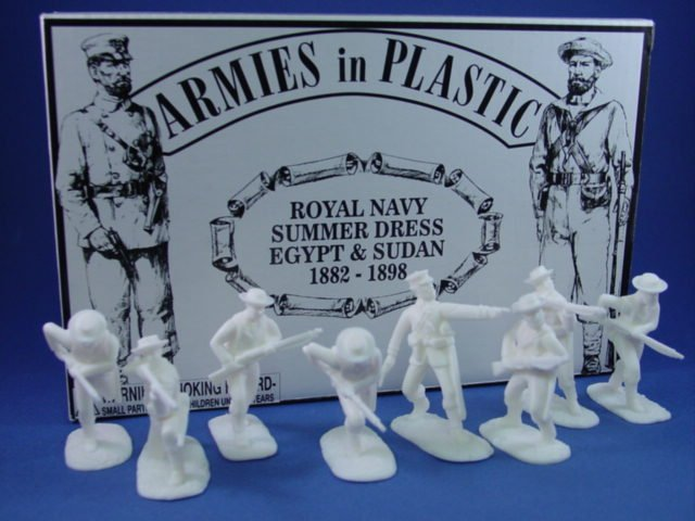Armies in Plastic 54mm British Royal Navy in Summer Dress - 20 figures cast in white