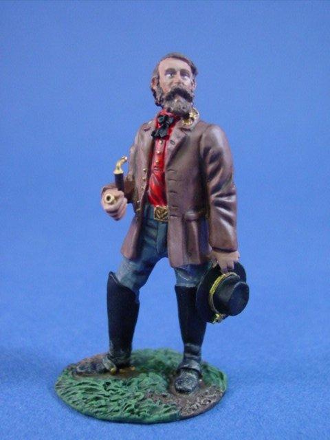 W Britain Toy Soldiers Civil War Confederate General A.P. Hill (No. 2) Metal Miniature