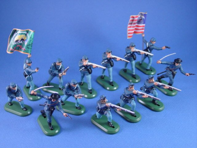 Britains Super Deetail Plastics Union Toy Soldiers Expanded Firing Line Set