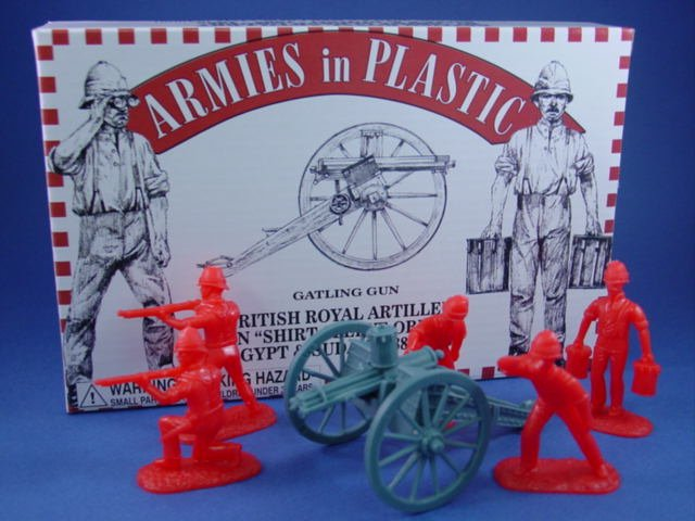 Armies in Plastic 54mm British Gatling Gun with 5 man crew