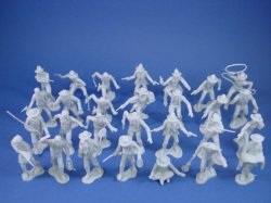 Thumbnail of Marx 54mm Mineral City Playset 54mm Miners, Trappers and Cowboys 32 Figures Gray
