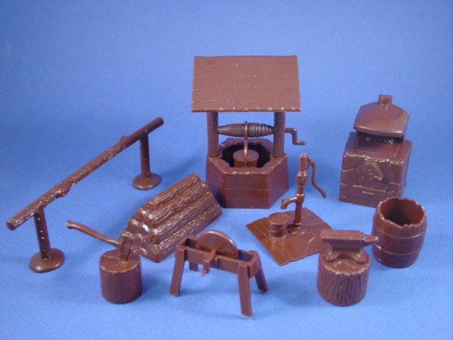 Marx 54mm Western Playset Reissue Accessory Items Set 12 ...