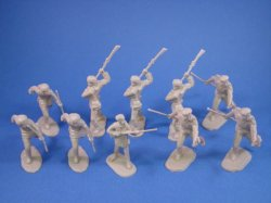 Thumbnail of BEST BUY! Marx Alamo Playset 54mm Frontiersmen in Tan with 45mm Davy Crockett
