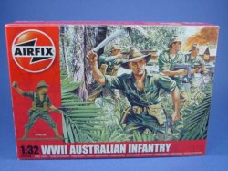 Thumbnail of Airfix 1:32 Toy Soldiers WWII Australian Infantry 14 Piece Set 2709