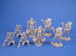 Thumbnail of Marx 54mm Pioneer Family with Indian Paddler 8 Piece Set