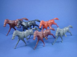 Thumbnail of Marx 54mm Blue & Gray Playset Cavalry Horses 6 Piece Set