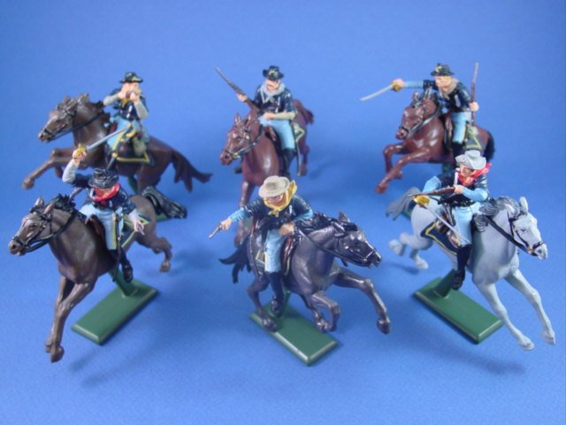 Britains Deetail DSG Toy Soldiers 7th Cavalry Toy Soldiers on Horseback