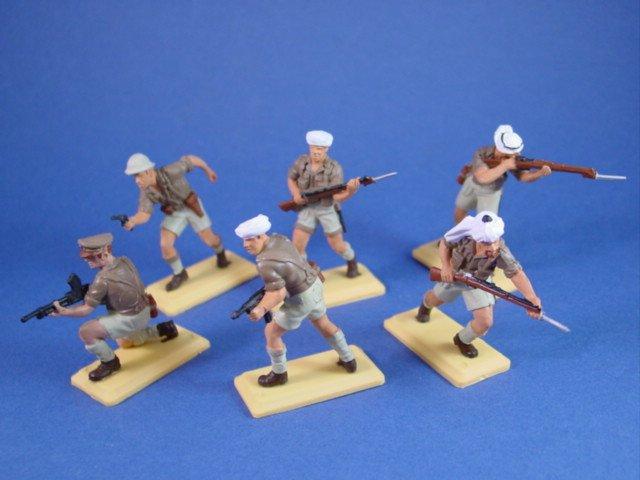 Britains Deetail DSG Toy Soldiers Custom Rat Patrol Set