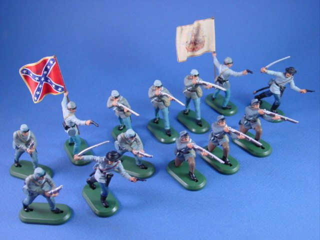 Britains Deetail DSG Civil War Toy Soldiers Confederate Expanded Firing Line Set