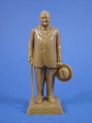 Thumbnail of Marx 60mm WWII World Leader Winston Churchill Figure on Square Base