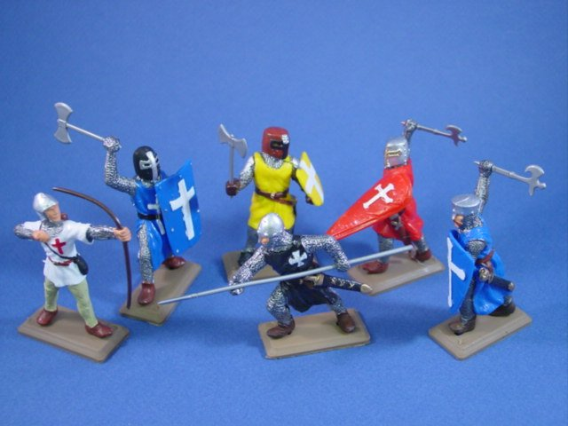 Britains Deetail DSG Crusader Knights in Colored Tunics 6 Piece Set