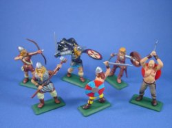 Thumbnail of ALL NEW! Britains Deetail DSG Toy Soldiers Viking Warriors 6 Piece Set