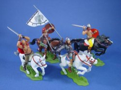 Thumbnail of ALL NEW! Britains Deetail DSG Toy Soldiers Mounted Viking Warriors 4 Piece Set