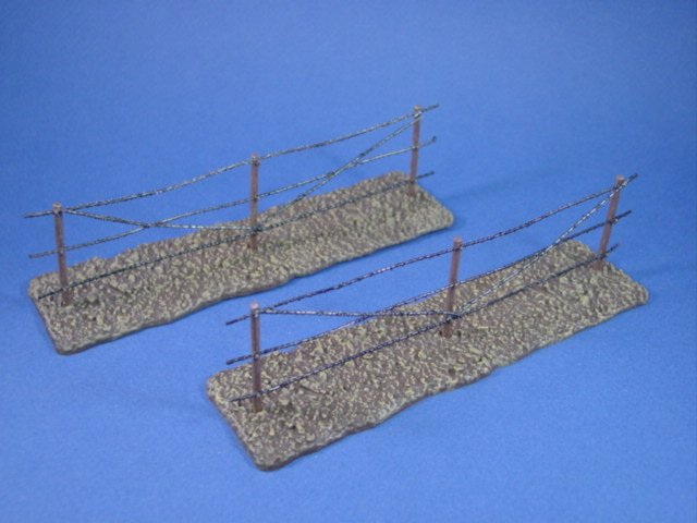 WWII 2-piece Resin Barbed Wire Fence Sections - Diorama and Display ...