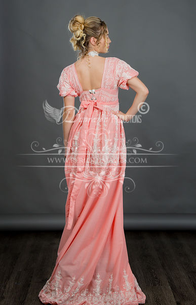 Image 2 of Regency Coral Gown