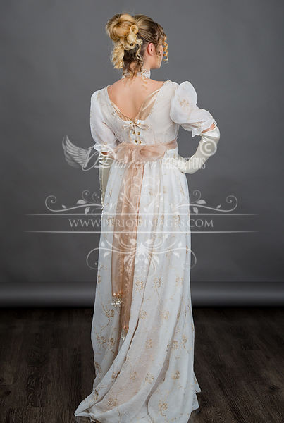 Image 3 of Regency Ivory Gold Gown