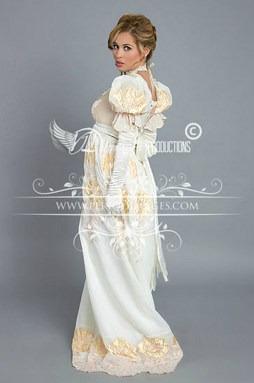 Image 0 of Regency Cream and Gold Poppy Gown
