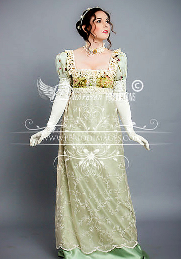 Image 1 of Regency Sage  Gown