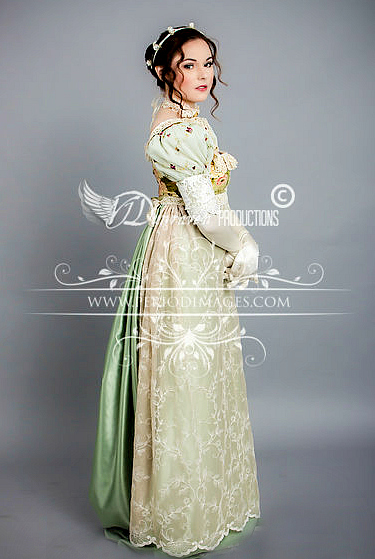 Image 2 of Regency Sage  Gown