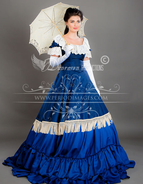 Image 0 of Victorian Blue Promenade Dress